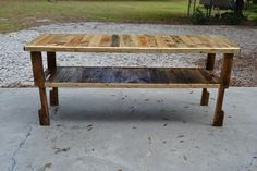 Handcrafted pallet table. Working on saving the planet 1 tree at a time