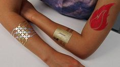 Researchers create temporary tattoos you can use to control your devices -> http://mashable.com/2016/08/12/duoskin-tattoos/   In the future your tattoos could be much more than just ink designs.  Scientists have created a new kind of high-tech temporary tattoo that can act as a controller for smartphone apps and other devices. Called DuoSkin the tattoos were created as a joint effort between MIT researchers and Microsoft Research.  SEE ALSO: Tattoo prototype turns body art into a fitness…