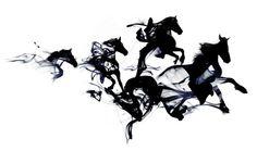 """Black horses"" Art Print by Robert Farkas"