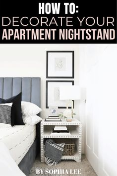 best nightstand decor ideas for 2020 First Apartment Checklist, First Apartment Essentials, Apartment Hacks, Apartment Living, Moving House Tips, Ikea, Apartment Decorating On A Budget, Decoration, Nightstand