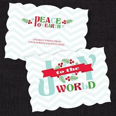 Literary Joy Die Cut Holiday Card - Personalize yours and SAVE 30% now! #HolidayCards
