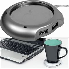 I'm learning all about Laptop Buddy USB Powered Beverage Warmer w/ 4 Port Hub at @Influenster!