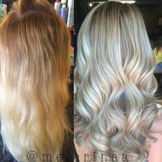 Warm golden ombré ➡️ ashy blonde highlights/lowlights @Regrann from @melerinaa - Warm golden ombré ➡️ ashy blonde highlights/lowlights for my sissy @michaela_moyers #blondehair #Regrann