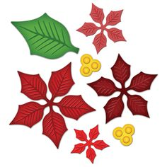 Poinsettias. Really, really want this one!  Spellbinders wish list