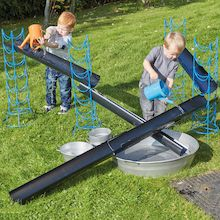 A set of jumbo sized, deep guttering for use in your Sand and Water play.