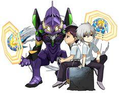 Shinji & Kaworu from Puzzle & Dragons