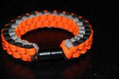 Paracord Survival Bracelet with Barrel Clip Orange by CordNinja