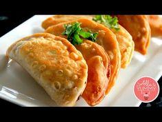 How to make Chebureki at home, the best Chebureki recipe. A national dish of… Eastern European Recipes, European Cuisine, Cooking Courses, Cooking Recipes, Snacks Recipes, Empanadas, Great Recipes, Favorite Recipes, Good Food