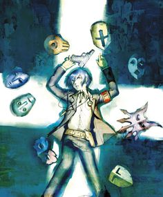 View an image titled 'Protagonist & Masks Art' in our Shin Megami Tensei: Persona 3 art gallery featuring official character designs, concept art, and promo pictures. Shin Megami Tensei Persona, Persona 4, Video Game Art, Video Games, Magic Circle, Masks Art, 3 Arts, Manga Pictures, Anime Guys