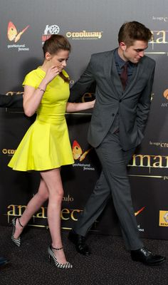 Kristen Stewart & Rob Pattinson at the the Breaking Dawn 2 Premiere in Madrid - November 2012