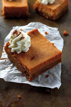 Greek Yogurt Pumpkin Pie Bars