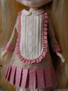 vintage style dress for blythe doll