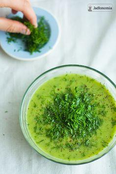 Cream of cabbage and leeks Vegan Soups, Vegan Vegetarian, Vegan Recipes, Paleo, Vegan Food, Green Soup, Polish Recipes, Polish Food, Super Greens