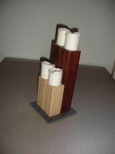 Portavelas macizos. Hazlos a tu medida, con maderas nobles y elegantes.