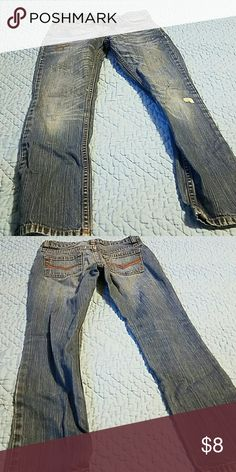 Girl's Riders Vintage jeans 7r Spotted designs . Distressed look. Bottoms Jeans