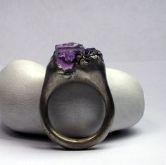 oh my god i love purple and jewelry and irregular forms.