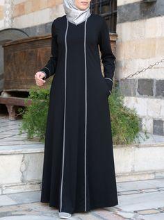 Abaya Fashion, Muslim Fashion, Fashion Dresses, Modest Fashion, Stylish Dresses For Girls, Stylish Dress Designs, Mode Abaya, Mode Hijab, African Print Dress Designs