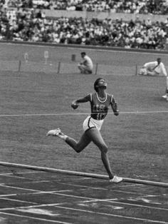 US Sprinter, Wilma Rudolph, Winning Women's 100 Meter Dash in Olympics Premium Photographic Print by George Silk - AllPosters.ca