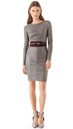 Robert Rodriguez Stretch Leather Dress