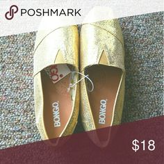 GOLD Tom inspired Slip on Flats These are brand new cute flats great for dressing up a casual outfit or just adding a little sparkle. BONGO Shoes Flats & Loafers