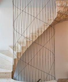 Describe this staircase with ONE word! Carolines Place is designed by Amin Taha Architects and is located in // Photo by Timothy Soar - Architecture and Home Decor - Bedroom - Bathroom - Kitchen And Living Room Interior Design Decorating Ideas - Modern Architecture House, Residential Architecture, Architecture Details, Interior Architecture, Interior Design, Staircase Railings, Stairways, Spiral Staircase, Interior Stairs