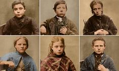 Haggard faces of Victorian criminal children in 1870s
