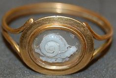 Cameo Ring with Snail decoration 1st - 2nd Century AD Roman Imperial