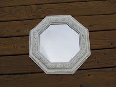 Shabby Chic Antique White Wall Ornate mirror by DebosHomeDecor, $26.95