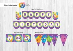 Happy Birthday Banners, Birthday Party Themes, Birthday Ideas, Bunny Birthday, 2nd Birthday, Bunny Party, Dream Party, High Chair Banner, Pennant Banners
