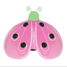 Hanging Ladybug 8 Medium Green Pink Shimmer Nylon Mesh Lady Bug Decorations Decorate Baby Nursery Bedroom Girls Room Ceiling Wall Decor Wedding Birthday Party Baby Shower Bathroom Kid Ladybugs 3D Art *** Read more  at the image link.