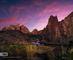 Smith Rock Sunset by ParchenPhotography  A7r Central Oregon Crooked River Oregon Smith Rock Sunset Smith Rock Sunset ParchenPhotography