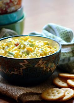 The perfect Southern-Style Egg Salad starts with a blend of creamy and slightly crunchy textures coming together with bright, fresh flavors. It's not even particularly fancy, there are no spe… Butter Crackers, Remoulade Sauce, Salad Recipes, Healthy Recipes, Vidalia Onions, Fresh Bread, Egg Salad, Freshly Baked, Southern Recipes