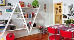 Arredare con il riciclo creativo - Libreria fatta con scale