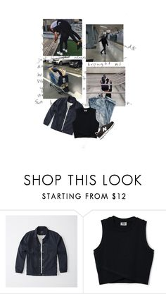 """that's just how we are"" by ulzzangfashion ❤ liked on Polyvore featuring J.Crew, Abercrombie & Fitch, New Balance, urban, korean, Ulzzang and kfashion"