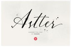 #Astter  Astter is classic handwritten font every single letters have been carefully crafted to make your text looks beautiful. With modern script style this font will perfect for many different project ex: quotes blog header poster wedding branding logo fashion apparel letter invitation stationery etc. Astter script including ligature alternate glyph and extra swirl. FEATURES: - Astter (OTF & TTF) Thanks for looking. --- Check out my blog: - http://ift.tt/1REqpgY - http://ift.tt/1Sg3GtZ