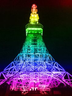Rainbow Efiel Tower!!! Bebe'!!! Love rainbows where ever it is!!!