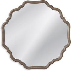 "Bassett Mirror Davenport Wall Mirror Grey 40"" x 40"" - M3808EC"