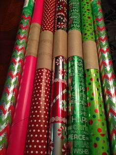 Wrapping paper organization