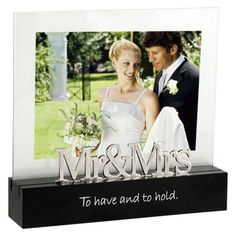 Mr & Mrs Photo Frame - Black 5x7