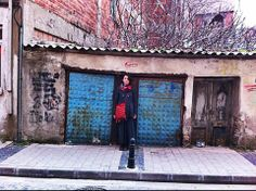 #asliozkan.net #LadyMoreth #StreetStyle #Red #Bohem #Hippi #Blogger #Doors #Blue
