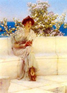 Sir Lawrence Alma-Tadema - O Ano na Primavera. Tudo está Certo com o Mundo (The Year´s at the Spring. All s Right with the World) - 1902
