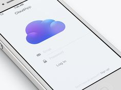 Cloudier #Login #UI Design