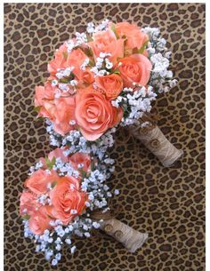 New Artificial Rustic Coral Reef Bridal Bouquet by BridalBouquets