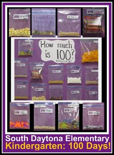 "100th Day ""Homework"" -- fill a baggy with 100 goodies. (Article has lots of other possibilities!)"