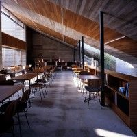 Suppose Design Office designed the Cafe la Miell in the city of Niihama, Japan. Architecture Design, Concrete Architecture, Cafe Interior Design, Cafe Design, Interior Ideas, Interior Inspiration, Commercial Design, Commercial Interiors, Glass Wall Design