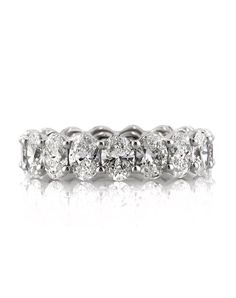 5.40ct Oval Cut Diamond Eternity Band