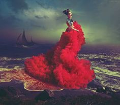 """Saatchi Art Artist Miss Aniela; Photography, """"Scarlet Song, 2/3, large edition, 1 sold"""" #art"""