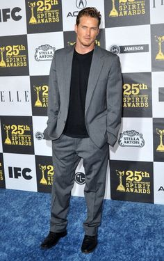 Actor Jason Lewis arrives at the 25th Film Independent Spirit Awards held at Nokia Theatre LA Live on March 5 2010 in Los Angeles California