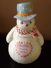 Retired Enesco Precious Moments Snowman Cookie Jar