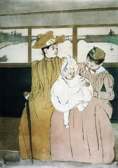 Mary Cassatt - In The Omnibus  Born May 22, 1844, Allegheny  Many Paintings of Women & children